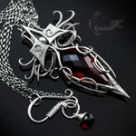 XYTRINDIELL - silver and red quartz