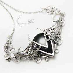 IXEENTULX - silver , onyx , spinel. by LUNARIEEN