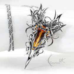 YZDRNIZZ- silver and citrine by LUNARIEEN