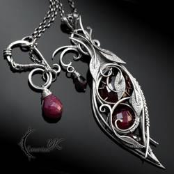 OTHRNDNAR - silver and ruby by LUNARIEEN
