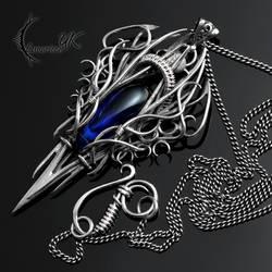 URLZGNAR - silver and cobalt blue quartz by LUNARIEEN