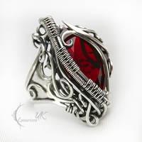 NAHMANTIRX - silver and red quartz by LUNARIEEN