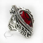 NAHMANTIRX - silver and red quartz