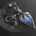 AGHERNEL - Silver and Moonstone.