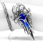 XUGTHYR - Silver and Cobalt Blue Quartz.