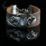 ATRDNARL - Silver, Leather and Silky Moonstone