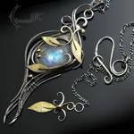 GHARTNYR - Silver, 18Ct Yellow Gold, Moonstone