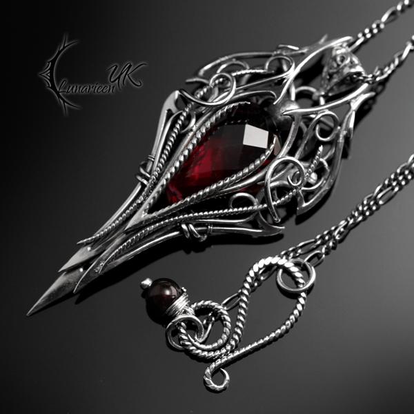 LYGHTIARN - Silver, Red Quartz, Garnet by LUNARIEEN