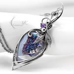 GLACIRIUSS - Silver, Druzy Agate, Amethyst.