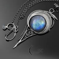 MYNTHNALL - Silver, Moonstone by LUNARIEEN