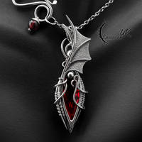 ATZNARIL, Silver, Red Quartz, Garnet by LUNARIEEN