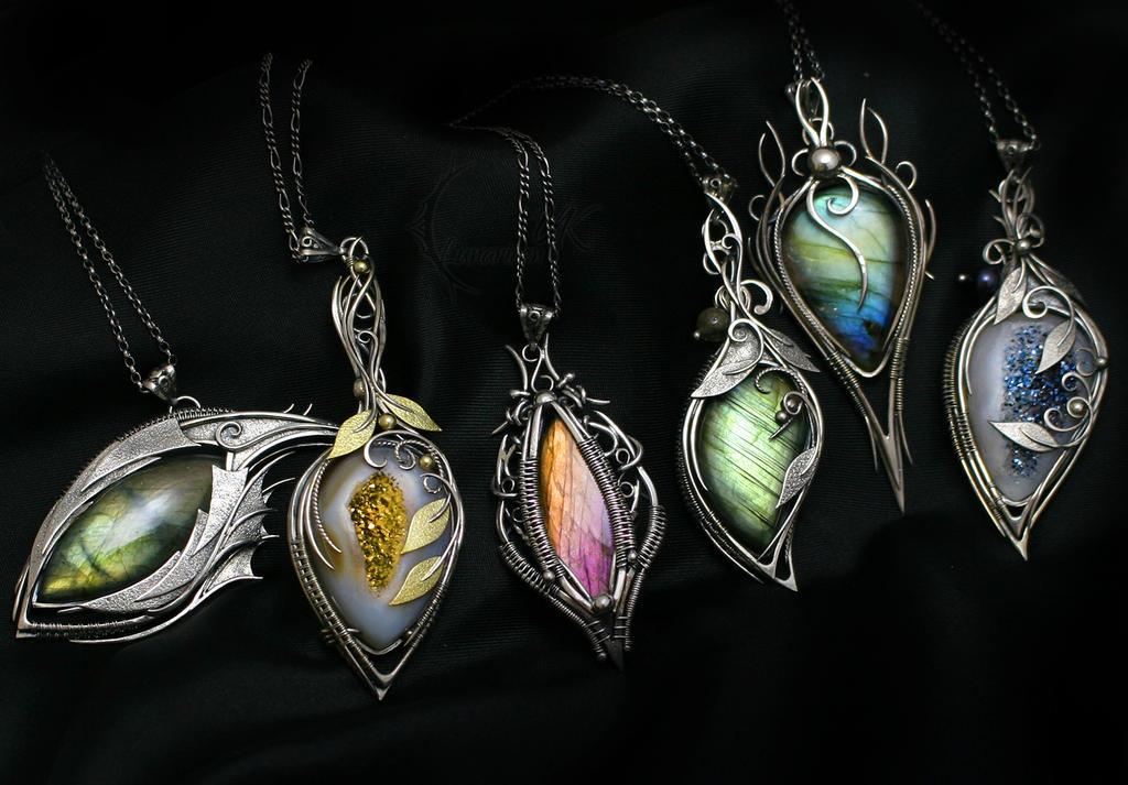 Necklaces by LunarieenUK by LUNARIEEN