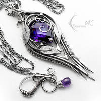 NACTARIAH - Silver, Purple Zirconia and Amethyst by LUNARIEEN