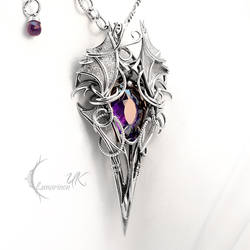 XHARNTHERN - Silver, Purple Zirconia and Amethyst