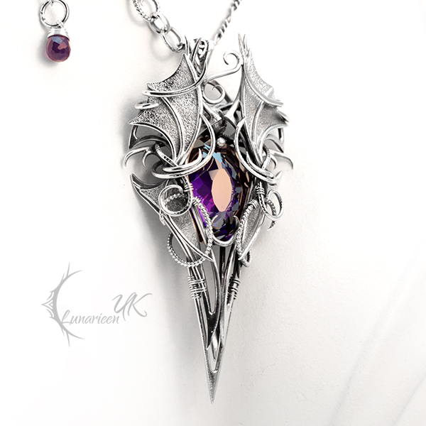 XHARNTHERN - Silver, Purple Zirconia and Amethyst by LUNARIEEN