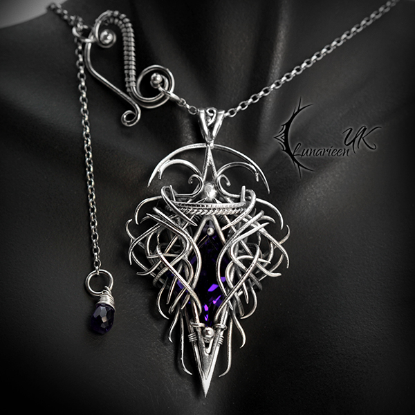 QUATHARDION - Silver and Purple Amethyst by LUNARIEEN
