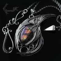 XACTHNAR DRACO- Silver and Purple Labradorite