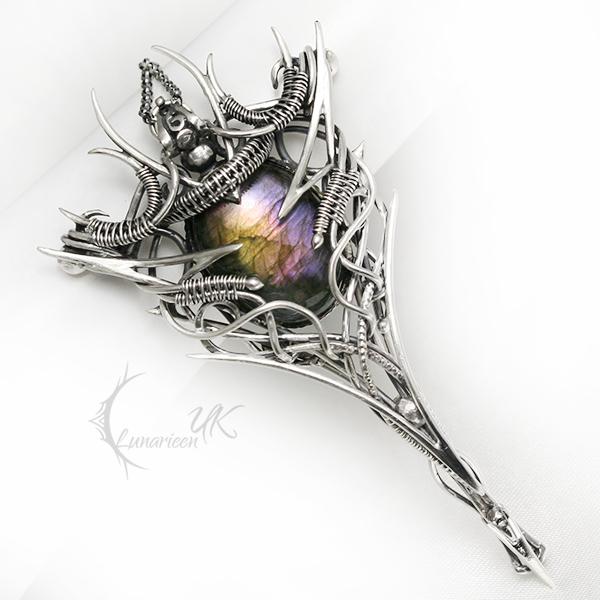 UXELERH EXTELH Silver and Labradorite by LUNARIEEN