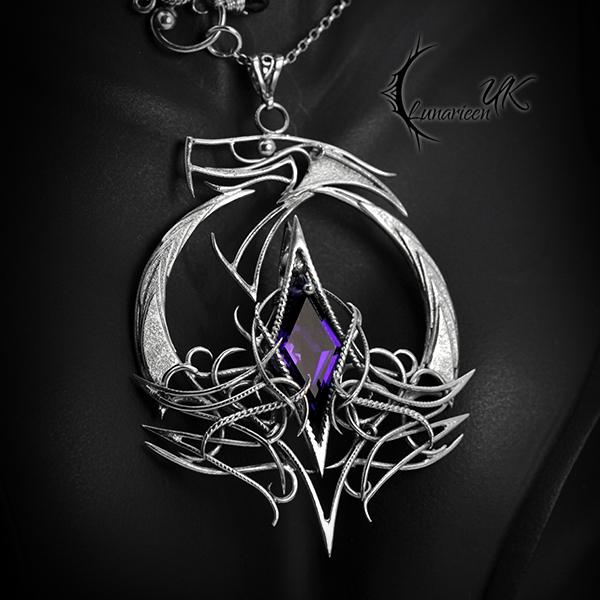 SHATHELIAR - Silver and Purple Amethyst. by LUNARIEEN