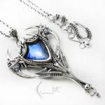 IMMAXURX Silver, Labradorite, Blue Onyx