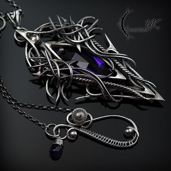 VACTRAHL NOCRTU, Silver and Amethyst. by LUNARIEEN