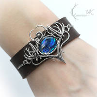 QUANRIL, Silver and Blue Paua Shell by LUNARIEEN