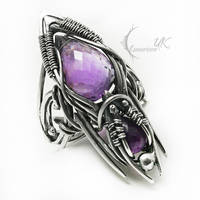 SENNEXENTH Silver and amethyst ( ring ) by LUNARIEEN