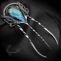 NAZTHIRL - Silver, Labradorite. by LUNARIEEN