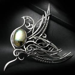 LUXTRUIM Silver and Labradorite (pendant)
