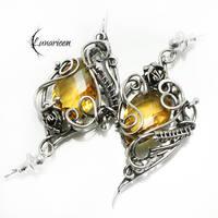 UXERXEN Silver and Yellow Quartz by LUNARIEEN