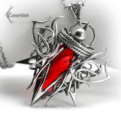 XAQHARN - Silver, Red Quartz and Garnet. by LUNARIEEN