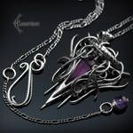 QUARRN LHYTH - Silver, Purple Quartz and Amethyst.