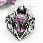 TAMMERILTH Silver and Amethyst ring