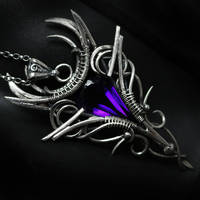 XANTRALTH Silver and Amethyst by LUNARIEEN