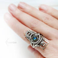 ESSEREX RA (ring) Silver and Labradorite by LUNARIEEN