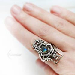 ESSEREX RA (ring) Silver and Labradorite by LUNARIEEN