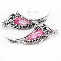 ILLARENTH Silver and Pink Zirconia by LUNARIEEN