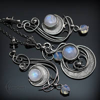 Set  - Necklace and Earrings  LUNA FYARR by LUNARIEEN