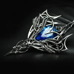 AREVIRTH AXEERI Silver and Blue Zirconia