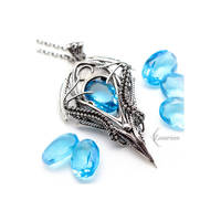 Necklace TRIALINHIS - Blue Quartz, Topaz by LUNARIEEN