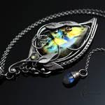 Necklace ENRYDIALL - Silver and Labradorite