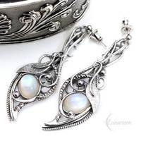 ENLRIAL DIAAR - Silver and Moonstone by LUNARIEEN