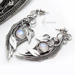 Earrings AXELTIEER - Silver and Moonstone