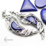 Earrings THRILLNIS - Silver and Lapis Lazuli