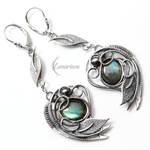 Earrings EZTHEYRA - Silver and Labradorite