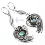 Earrings EZTHEYRA - Silver and Labradorite