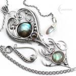 NATYARIL - Silver and Labradorite
