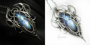 UXARERIEEL Silver, Rainbow Moonstone