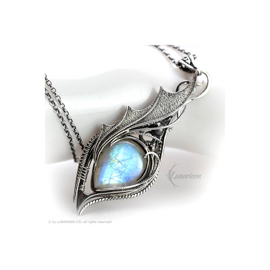 Necklace MYHTNARILL  - Silver and Moonstone