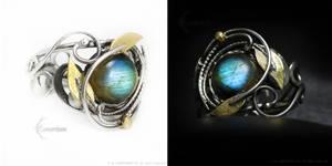 URXIAMELTH Silver, brass and Labradorite